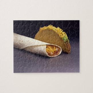 Taco and bean burrito jigsaw puzzle
