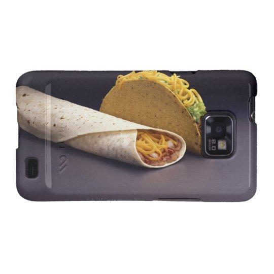 Taco and bean burrito samsung galaxy s2 cover