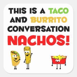 Taco and Burrito Business Square Stickers