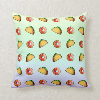 Taco and Donut Pillow