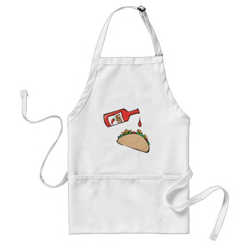 Taco and Hot Sauce Adult Apron
