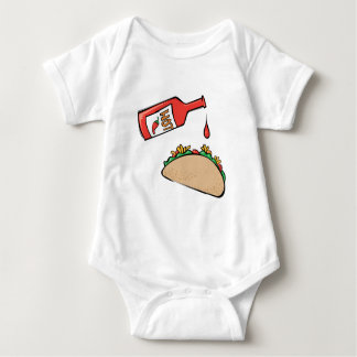 Taco and Hot Sauce Baby Bodysuit