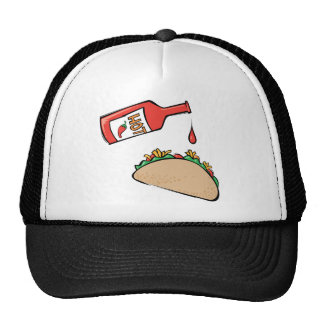 Taco and Hot Sauce Hats