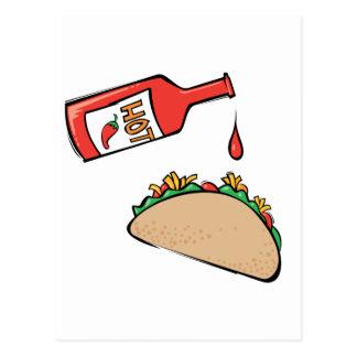 Taco and Hot Sauce Postcard