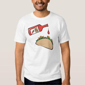 Taco and Hot Sauce Tee Shirt