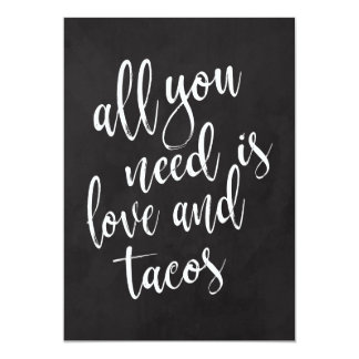 Taco bar affordable chalkboard wedding sign card