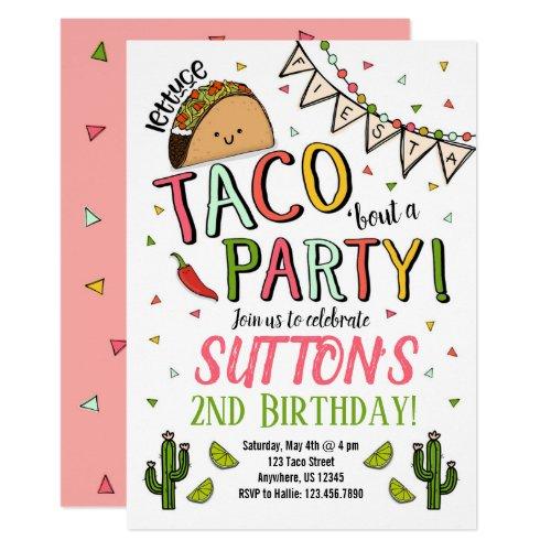 Taco Birthday Party Invitation Cinco De Mayo