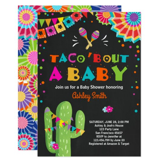 Taco Bout A Baby Fiesta Shower Invitation