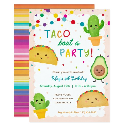 Taco bout a party _ fiesta theme birthday invitation