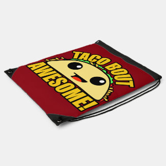 Taco Bout Awesome Drawstring Backpack