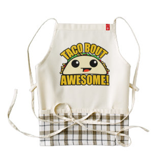 Taco Bout Awesome Zazzle HEART Apron