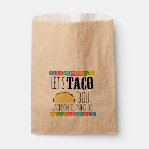 Taco 'Bout Birthday Party Favor Bag