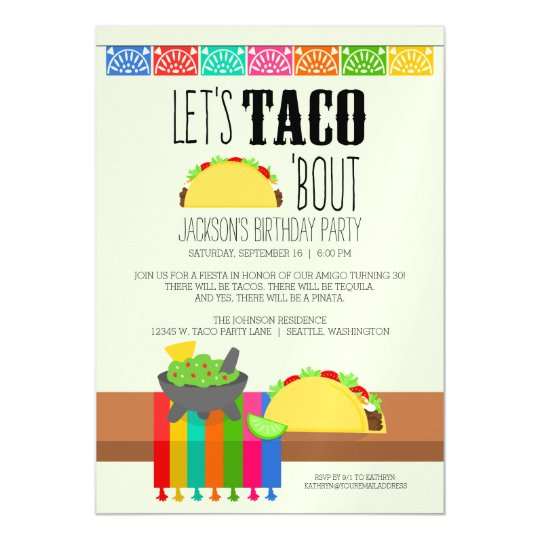 Taco bout birthday party magnetic invitation zazzle taco bout birthday party magnetic invitation filmwisefo