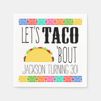 Taco 'Bout Birthday Party Paper Napkin