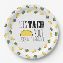 Taco 'Bout Birthday Party Paper Plate