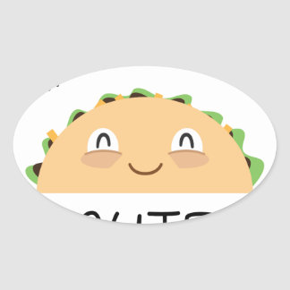 Taco Bout Cute Oval Sticker