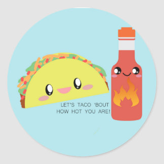 TACO 'bout HOT Round Sticker (Sheet of 20)