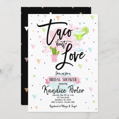 Taco Bout Love Bridal Shower Fiesta Invitation