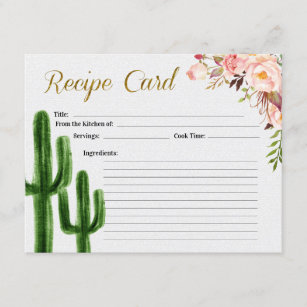 Recipe Card Bridal Shower printable Recipe Card kit Sign Insert card /& recipe card Wedding shower party rustic Instant download 37 G101
