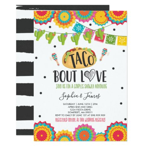 Taco 'Bout Love Couples Engagement Fiesta Party Invitation