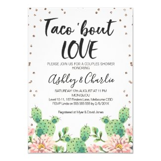 Taco ''bout Love Couples Shower Invitation