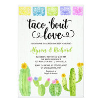 Taco bout love Fiesta cactus bridal shower Invitation