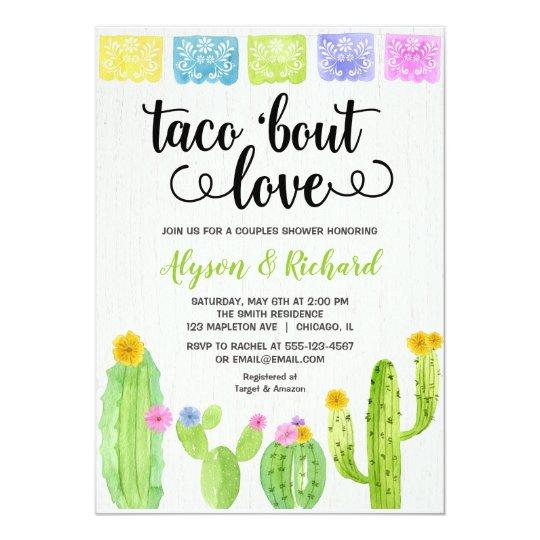 cbe26270aed Taco bout love Fiesta cactus bridal shower Invitation