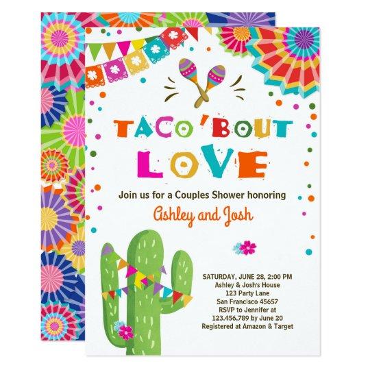 Taco Bout Love Fiesta Couples Shower Invitation