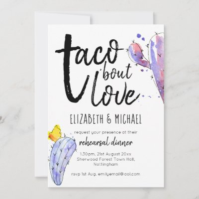 Taco Bout Love Illustrated Rehearsal Dinner