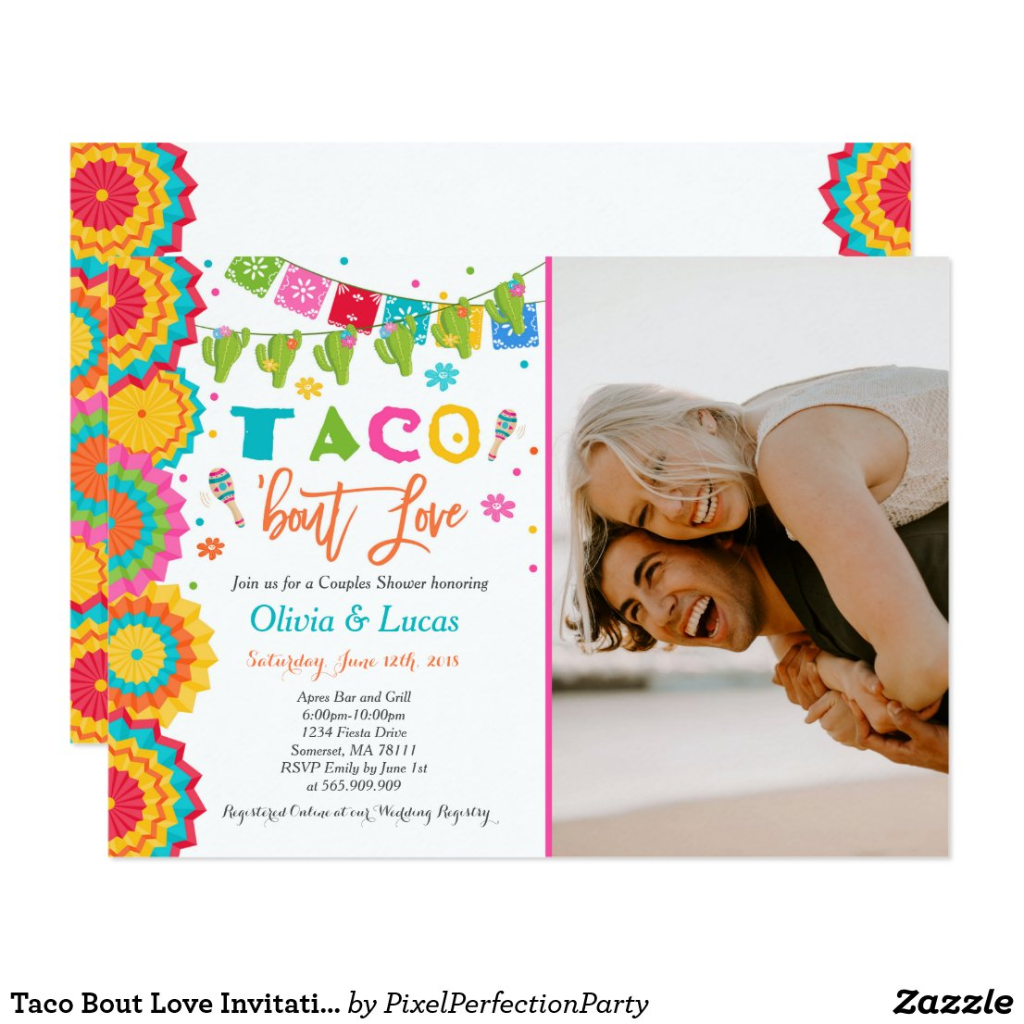 Taco Bout Love Invitation Couples Fiesta Shower