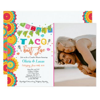 Taco Bout Love Invitation Couples Fiesta Shower