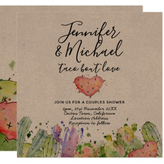 Taco Bout Love - Modern Fun Fiesta Wedding Invites