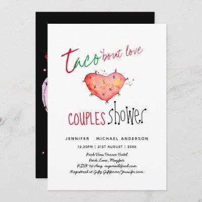 TACO BOUT LOVE Modern Fun Wedding Fiesta Invitation