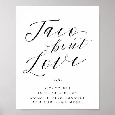 Taco Bout Love Taco Bar Wedding Sign