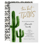 Taco bout twins Cactus baby Shower Invite card