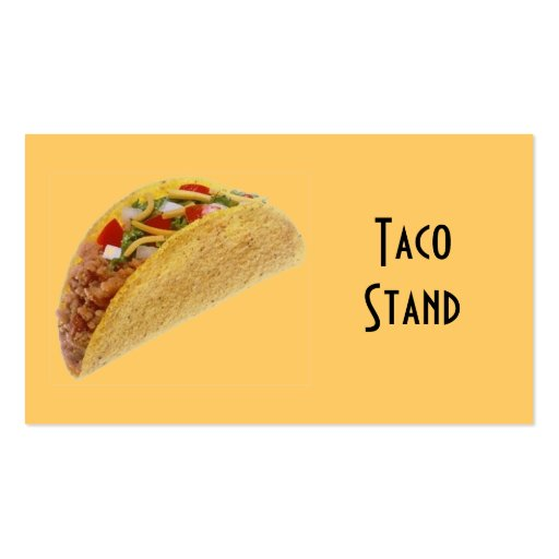 Taco Business Card Templates