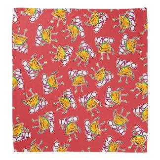 taco cartoon style funny illustration bandana