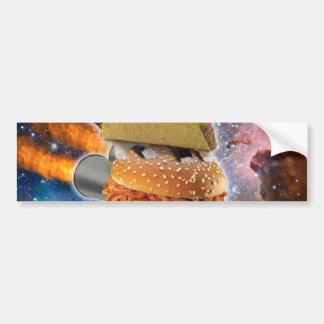 taco catand rockethamburger in the universe bumper sticker
