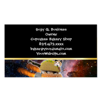 taco catand rockethamburger in the universe business card