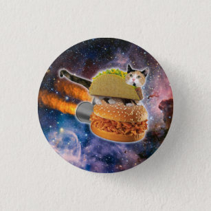 taco catand rockethamburger in the universe button