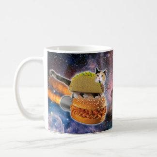 taco catand rockethamburger in the universe coffee mug