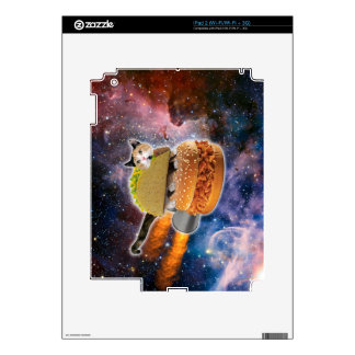 taco cat and rocket hamburger in the universe decal for iPad 2