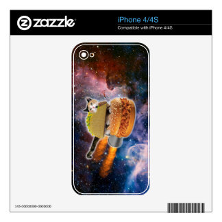 taco catand rockethamburger in the universe iPhone 4 skins