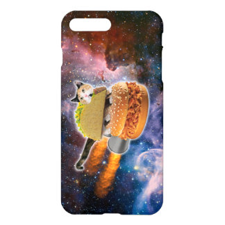 taco catand rockethamburger in the universe iPhone 7 plus case