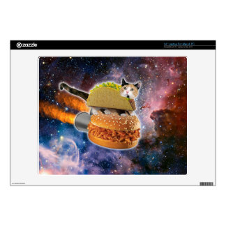 taco cat and rocket hamburger in the universe laptop decals
