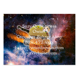 taco catand rockethamburger in the universe large business card