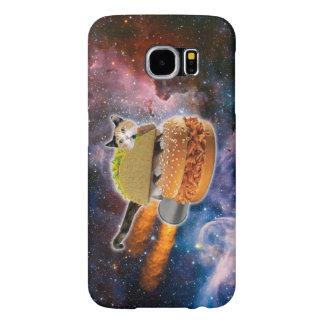 taco catand rockethamburger in the universe samsung galaxy s6 case