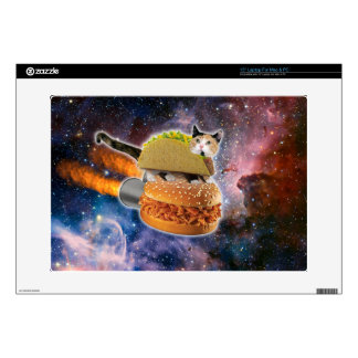 taco cat and rocket hamburger in the universe skin for laptop