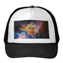taco catand rockethamburger in the universe trucker hat