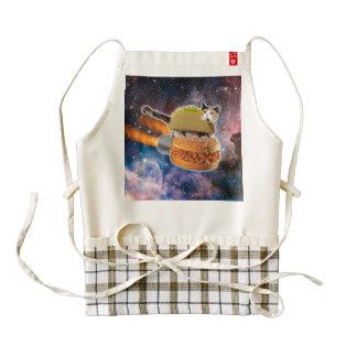 taco catand rockethamburger in the universe zazzle HEART apron
